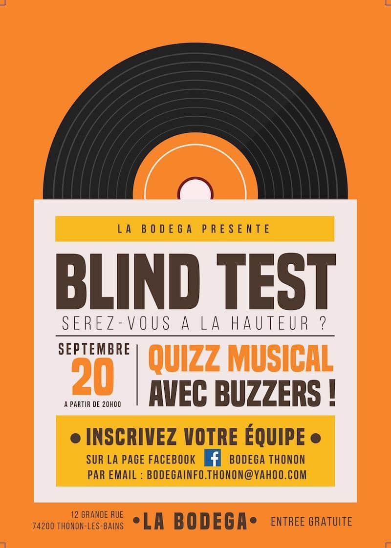 Blind test à Thonon les Bains