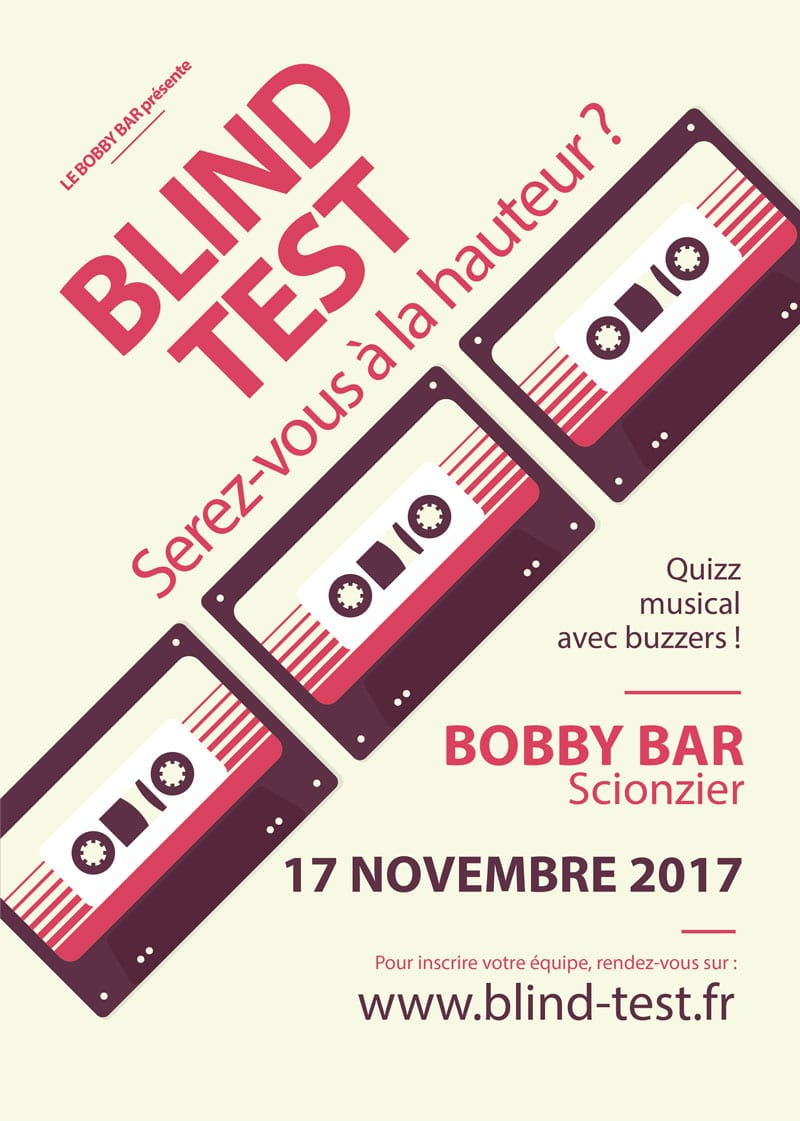 Blind test Bobby Bar Scionzier
