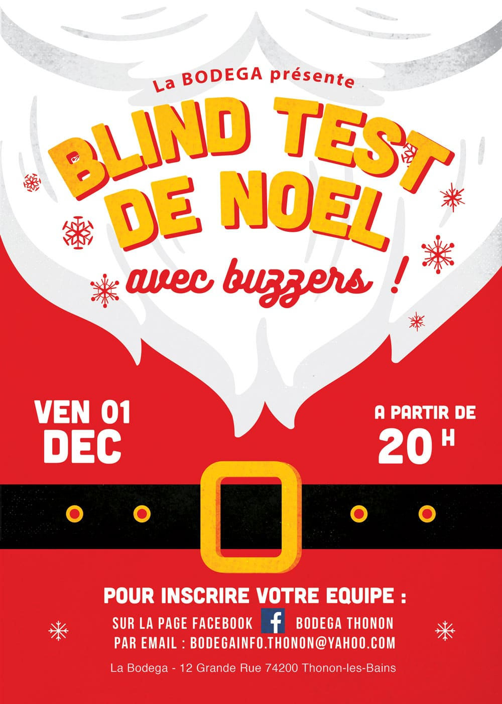Blind test à la Bodega de Thonon les Bains