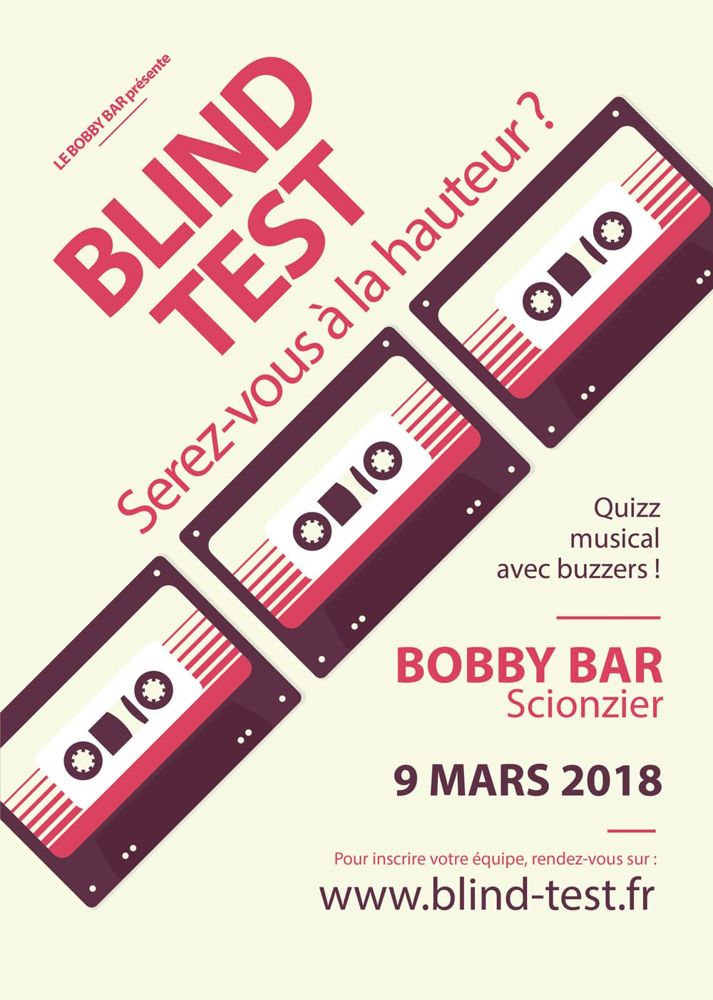 Blind test bobby bar