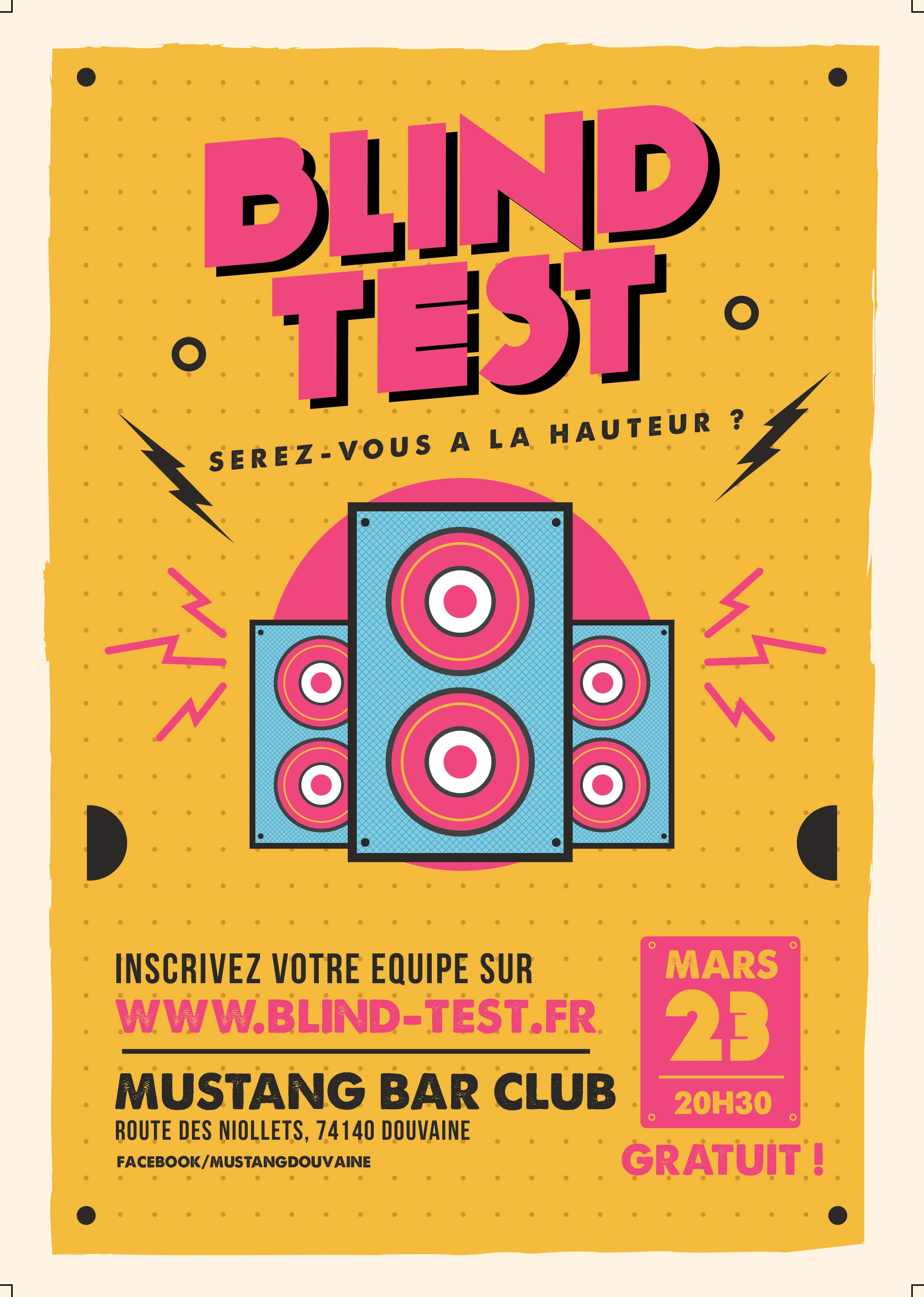 Mustang Bar Douvaine blind test