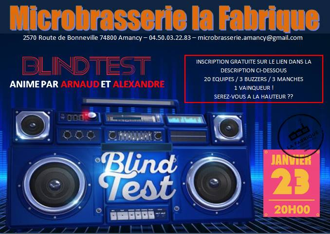 Blind test Microbrasserie Amancy